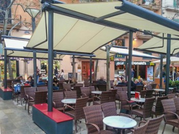 Restaurant Awnings Cafe Terrace Covers Dining Retractable