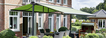 Commercial Butterfly Awnings for outdoor dining areas