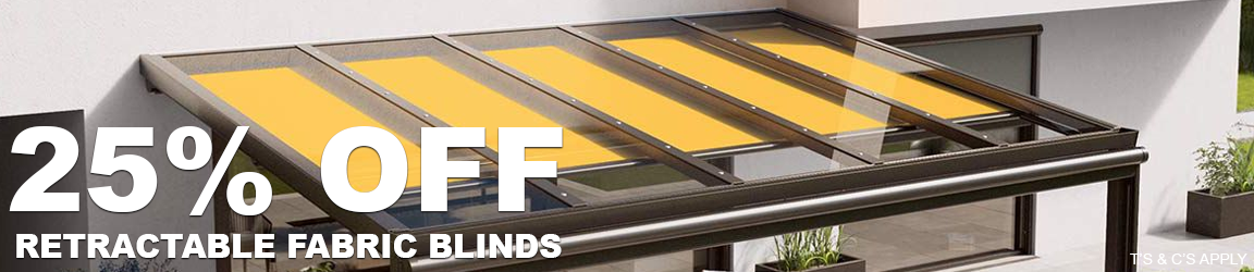 25% Off Fabric Blinds