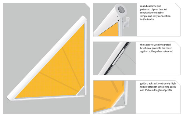Triangular blind guide